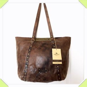 Authentic Patricia Nash Leather Distressed Tote